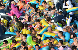 July 30, 2017 - Fushun, Fushun, China - Fushun, CHINA-July 30 2017: (EDITORIAL USE ONLY. CHINA OUT) Numerous tourists flock to HotGo Park during hot summer in Fushun, northeast China's Liaoning Province, July 30th, 2017. (Credit Image: © SIPA Asia via ZUMA Wire)