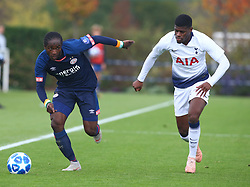 November 6, 2018 - London, England, United Kingdom - Enfield, UK. 06 November, 2018.L-R Sekou Sidibe  of PSV Eindhoven and Timothy Eyoma of Tottenham Hotspur.during UEFA Youth League match between Tottenham Hotspur and PSV Eindhoven at Hotspur Way, Enfield. (Credit Image: © Action Foto Sport/NurPhoto via ZUMA Press)