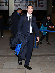 The Italy team arrive at Manchester Airport on Thursday night forTheir friendly with Argentina on Friday night. Matteo Darmian.