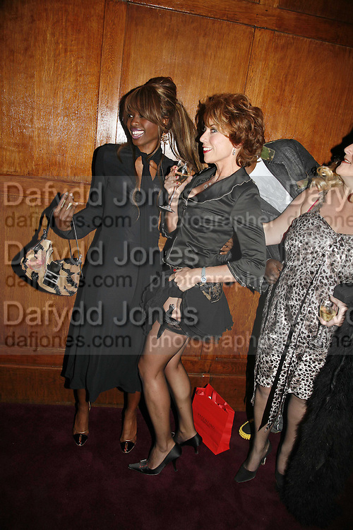 June Sarpong, Policeman, Arron Guy, Kathy Lette and Vanessa Feltz, Krug host the launch of Kathy Lette's book. ' How to Kill Your Husband' the Courthouse Hotel Great Marlborough St. London. 26 April 2006. ONE TIME USE ONLY - DO NOT ARCHIVE  © Copyright Photograph by Dafydd Jones 66 Stockwell Park Rd. London SW9 0DA Tel 020 7733 0108 www.dafjones.com