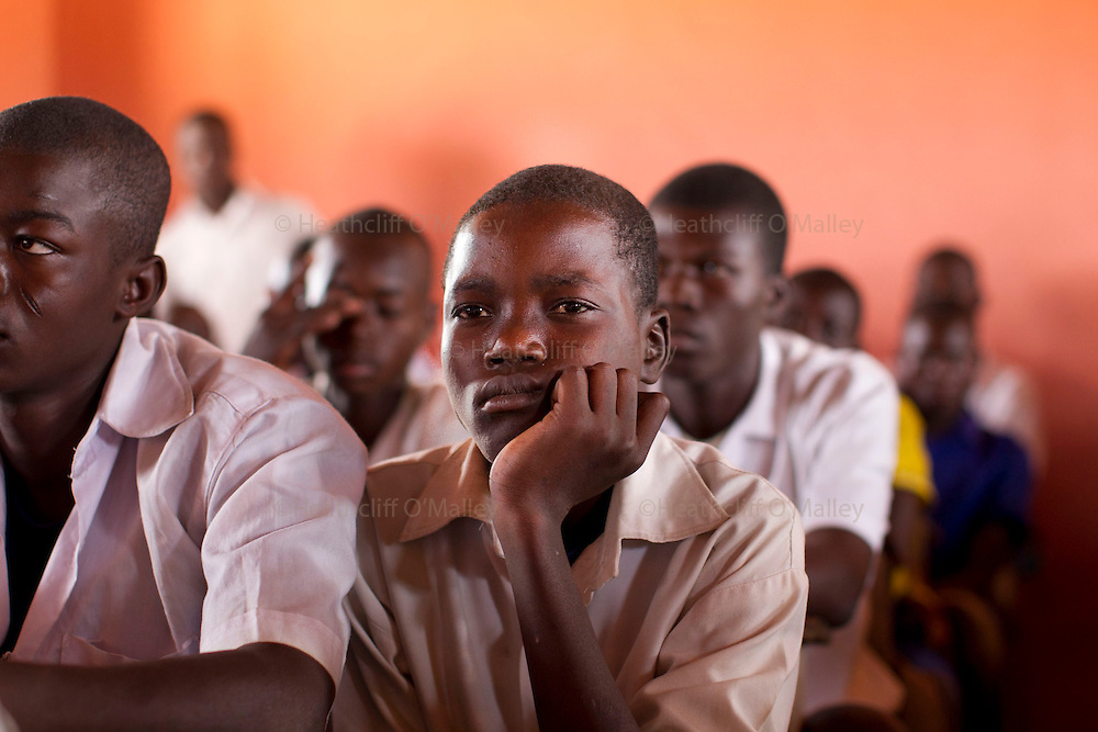 Schoolchildren from a village school near the town of Bolgatanga in northern Ghana which is supported by the charity Afrikids...Ghana 20 January 2012.