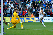 Goal - Connor Roberts (23) of Swansea City scores a goal to give a 2-0 lead to the home team during the EFL Sky Bet Championship match between Swansea City and Queens Park Rangers at the Liberty Stadium, Swansea, Wales on 29 September 2018.