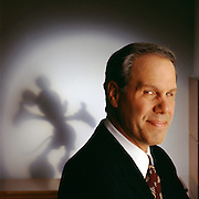 Michael Eisner, CEO of The Walt Disney Company one of the world's largest entertainment companies photographed at the company's headquarters building in Burbank, California.