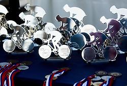 Trophies during Slovenian national individual Time Trial Championship at cycling Marathon Franja BTC City 2014 on June 4, 2014 in BTC, Ljubljana, Slovenia. Photo by Vid Ponikvar / Sportida