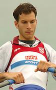 FISA World Cup Rowing Munich Germany..27/05/2004..Thursday morning opening heats...CRO M1X Bojan Zugic.. [Mandatory Credit: Peter Spurrier: Intersport Images].