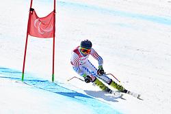 WALSH Thomas LW4 USA competing in ParaSkiAlpin, Para Alpine Skiing, Super G at PyeongChang2018 Winter Paralympic Games, South Korea.