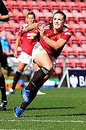 Manchester United midfielder Kirsty Hanson (18) during the FA Women's Super League match between Manchester United Women and Brighton and Hove Albion Women at Leigh Sports Village, Leigh, United Kingdom on 4 October 2020.