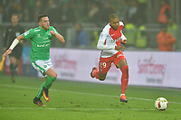 FOOTBALL : Saint Etienne vs Monaco - Ligue 1 - 29/10/2016<br /> Jordan Veretout (saint etienne) vs Kylian Mbappe  (monaco)<br /> <br /> Norway only