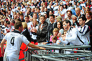 Rob Purdie of Hereford FC is commiserated by a Hereford fans following the FA Vase match between Hereford FC and Morpeth Town at Wembley Stadium, London, England on 22 May 2016. Photo by Mike Sheridan.