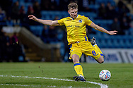 Bristol Rovers midfielder Ollie Clarke (8) has a shot during the EFL Sky Bet League 1 match between Gillingham and Bristol Rovers at the MEMS Priestfield Stadium, Gillingham, England on 12 March 2019.