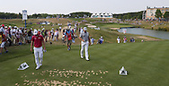 Arriving at the 16th tee is Victor Dubuisson (FRA) & Martin Kaymer (GER) during Round Two of the 2015 Alstom Open de France, played at Le Golf National, Saint-Quentin-En-Yvelines, Paris, France. /03/07/2015/. Picture: Golffile   David Lloyd<br /> <br /> All photos usage must carry mandatory copyright credit (© Golffile   David Lloyd)