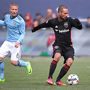 NEW YORK, NEW YORK - March 12:  Marcelo Sarvas #7 of D.C. United in action during the NYCFC Vs D.C. United regular season MLS game at Yankee Stadium on March 12, 2017 in New York City. (Photo by Tim Clayton/Corbis via Getty Images)