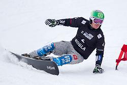Rok Marguc (SLO) during Final Run at Parallel Giant Slalom at FIS Snowboard World Cup Rogla 2019, on January 19, 2019 at Course Jasa, Rogla, Slovenia. Photo byJurij Vodusek / Sportida