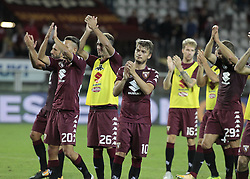 August 11, 2017 - Turin, Italy - Torino team celebrate the victory after the Tim Cup 2017/2018 match between Torino v Trapani, in Turin, on August 11, 2017.. FC Torino win 7-1 the math. (Credit Image: © Loris Roselli/NurPhoto via ZUMA Press)