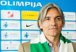 Rodolfo Vanoli during presentation of a new head coach of NK Olimpija, on April 22, 2016 in Austria Trend Hotel, Ljubljana, Slovenia. Photo by Vid Ponikvar / Sportida