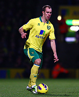 Football - Premier League - Norwich City vs. Sunderland<br /> <br /> <br /> Steven Whittaker in action for Norwich City at Carrow Road, Norwich