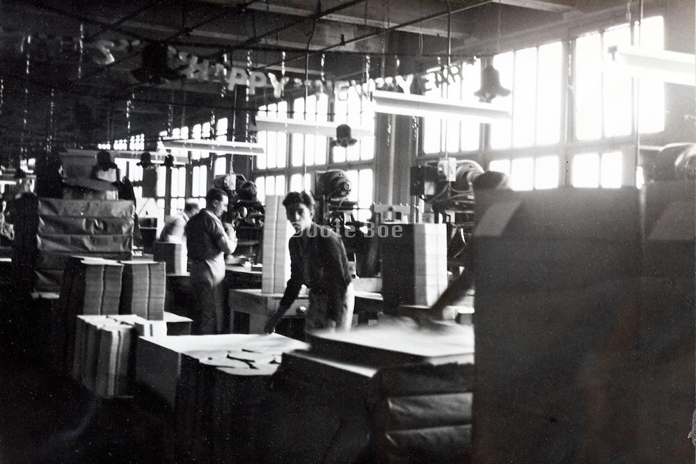 factory printing department floor USA 1940s