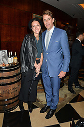 BEN & MARY CLARE ELLIOT at the London launch of Casamigos Tequila hosted by Rande Gerber, George Clooney & Michael Meldman and to celebrate Cindy Crawford's new book 'Becoming' held at The Beaumont Hotel, Brown Hart Gardens, 8 Balderton Street, London on 1st October 2015.