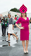 """30/07/2015 report free : Winners Announced in Kilkenny Best Dressed Lady, Kilkenny Best Irish Design & Kilkenny Best Hat Competition at Galway Races Ladies Day <br /> At the event was RTE""""s Maura Derrane . Photo:Andrew Downes, xposure"""