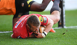 Scarlets Jonathan Evans<br /> <br /> Photographer Mike Jones/Replay Images<br /> <br /> Guinness PRO14 Round 22 - Scarlets v Cheetahs - Saturday 5th May 2018 - Parc Y Scarlets - Llanelli<br /> <br /> World Copyright © Replay Images . All rights reserved. info@replayimages.co.uk - http://replayimages.co.uk