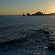 Sunset at medano beach. Cabo San Lucas, BCS.Mexico.