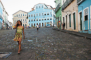 In steep Largo do Pelourinho, where Dona Flor-Sonia Braga was walking with her two husbands