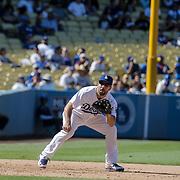 Aug 13 2016 - Los Angeles U.S. CA - LA Dodgers 3B Rob Segedin make a play at third base during MLB game between LA Dodgers and the Pittsburgh Pirates 8-4 win at Dodgers Stadium Los Angeles Calif. Thurman James / CSM