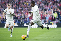 February 9, 2019 - Madrid, Spain - Vinicius Jr of Real Madrid during La Liga match between Atletico de Madrid and Real Madrid at Wanda Metropolitano in Madrid Spain. February 09, 2018. (Credit Image: © Peter Sabok/NurPhoto via ZUMA Press)