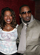 l to r: Danyel Smith and Jamie Foxx at The Jamie Foxx's Album Release Party for Intuition, Sponsored by Vibe Magazine & Patron Tequila held at Home on December 17, 2008 in New York City..