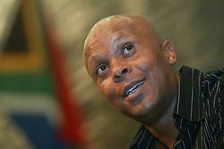 280110.Former Bafana Bafana striker Doctor Khumalo speaking at a press briefing in Germiston.343 <br /> Picture: Sizwe Ndingane