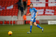 Hartlepool United  midfielder Lewis Hawkins (18)  during the EFL Sky Bet League 2 match between Doncaster Rovers and Hartlepool United at the Keepmoat Stadium, Doncaster, England on 19 November 2016. Photo by Simon Davies.