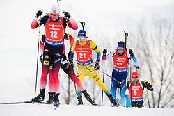 March 24, 2019 - Oslo, NORWAY - 190324 Sebastian Samuelsson of Sweden competes in the men's 15 km mass start during the IBU World Cup on March 24, 2019 in Oslo..Photo: Jon Olav Nesvold / BILDBYRÃ…N / kod JE / 160428 (Credit Image: © Jon Olav Nesvold/Bildbyran via ZUMA Press)