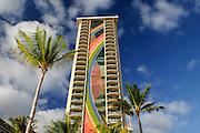 The Hilton Hawaiian Village Rainbow Tower hotel in Waikiki, Hawaii