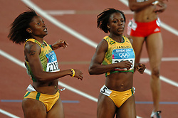 Aleen Bailey JAM, Veronica Campbell JAM in action during Olympics Games Athletics day 12 on August 24, 2004 in Olympic Stadion Spyridon Louis, Athens.