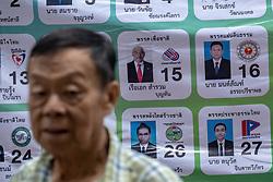March 24, 2019 - Bangkok, Thailand - A list of candidates for Thailand's general election, in Bangkok, Thailand, on March 24, 2019. (Credit Image: © Thomas De Cian/NurPhoto via ZUMA Press)
