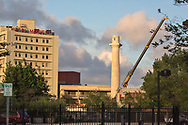 Friday, May 19, 2017, New Orleans, LA,  Empty base where a Confederate statue of  General Robert E. Lee  stood in . It was the last of four Confederate-era monuments to be removed after a proposal by Mayor Mitch Landrieu to remove the monuments was approved by the city council in 2015.