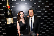 Frederic Cumenal; Scarlett Johansson, A Tribute to Cinema party given by Moet and Chandon.Big Sky Studios, Brewery Rd. London.  24 March 2009 *** Local Caption *** -DO NOT ARCHIVE-© Copyright Photograph by Dafydd Jones. 248 Clapham Rd. London SW9 0PZ. Tel 0207 820 0771. www.dafjones.com.<br /> Frederic Cumenal; Scarlett Johansson, A Tribute to Cinema party given by Moet and Chandon.Big Sky Studios, Brewery Rd. London.  24 March 2009