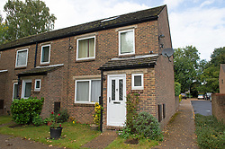 ©Licensed to London News Pictures 27/09/2019.<br /> New Ash Green ,UK. Sarah Wellgreen's house at Bazes Shaw, New Ash Green in Kent has the curtains drawn in the middle of the day and a new front door after the police forced entry last year. The mother of five has never been found, she disappeared in October 2018. Former partner Ben Lacomba (38) is due to stand trial for her murder next week. Photo credit: Grant Falvey/LNP