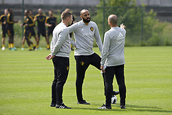 May 23, 2018 - Tubize, Belgique - TUBIZE, BELGIUM - MAY 23 : Thierry Henry ass. coach of Belgian Team, Roberto Martinez head coach of Belgian Team pictured during a training session of the Red Devils at the national training center before a friendly game against Portugal on May 23, 2018 in Tubize, Belgium, 23/05/2018 (Credit Image: © Panoramic via ZUMA Press)