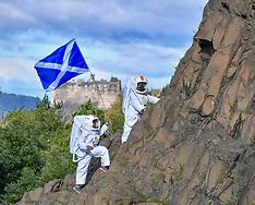 Astronauts on Arthur's Seat for the Fringe, Edinburgh, 15 August 2019