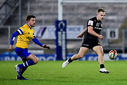 Stuart Townsend of Exeter Braves kicks the ball through  - Mandatory by-line: Ryan Hiscott/JMP - 16/12/2019 - RUGBY - Sandy Park - Exeter, England - Exeter Braves v Bath United - Premiership Rugby Shield