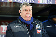 Sam Allardyce, the Crystal Palace manager looking on from the dugout. Emirates FA Cup 3rd round replay match, Crystal Palace v Bolton Wanderers at Selhurst Park in London on Tuesday 17th January 2017.<br /> pic by John Patrick Fletcher, Andrew Orchard sports photography.