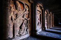 Inde, état de Maharashtra, Ellora, grottes d'Ellora classées au Patrimoine mondial de l'UNESCO, Temple de Kailash, VIIIe siècle, grotte N°16 // India, Maharashtra, Ellora cave temple, Unesco World Heritage, Kailash Temple, 8th century, cave N°16