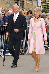 MR & MRS GERALD WARD he is Prince Williams Godfather at the wedding of Laura Parker Bowles to Harry Lopes held at Lacock, Wiltshire on 6th May 2006.<br /><br />NON EXCLUSIVE - WORLD RIGHTS