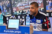 Josh Bostic<br /> Presentazione Josh Bostic Banco di Sardegna Dinamo Sassari<br /> Legabasket Serie A LBA PosteMobile 2017/2018<br /> Sassari, 02/02/2018<br /> Foto L.Canu / Ciamillo-Castoria