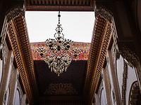 CASABLANCA, MOROCCO - CIRCA APRIL 2017: Detail of the Mosque Hassan II rooftop open in Casablanca.