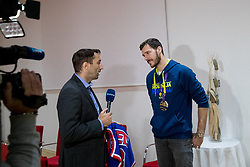 Goran Dragic and Damjan Medica at press conference of KZS and Slovenian national baskteball team after winning Gold medal at Eurobasket 2017 - Istanbul on September 19, 2017 in Austria Trend Hotel, Ljubljana, Slovenia. Photo by Matic Klansek Velej / Sportida