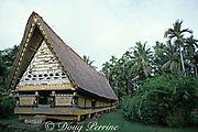 traditional men's meeting house, Palau or Belau, Micronesia, ( Western Pacific Ocean )