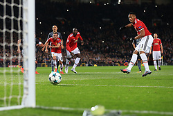 31st October 2017 - UEFA Champions League - Group A - Manchester United v SL Benfica - Anthony Martial of Man Utd strikes his penalty - Photo: Simon Stacpoole / Offside.