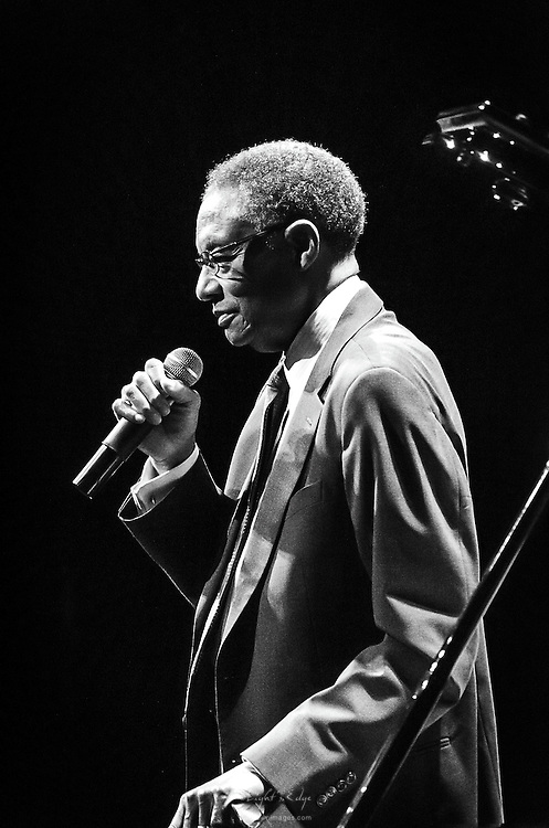 Ramsey Lewis during a question and answer portion of his show at SOPAC in South Orange, NJ.